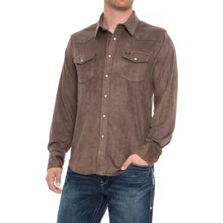 True Grit Sueded Solano Ranch Shirt - Snap Front, Long Sleeve (For Men) in Cocoa - Overstock