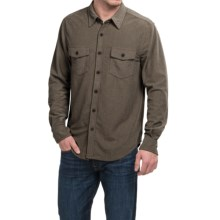 True Grit Sueded Solid Shirt - Long Sleeve (For Men) in Brown - Closeouts