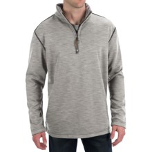 True Grit Sueded Tec Fleece Pullover Sweatshirt - Zip Neck (For Men) in Light Grey - Closeouts