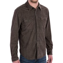True Grit Sueded Tweed Check Shirt - Long Sleeve (For Men) in Brown - Closeouts