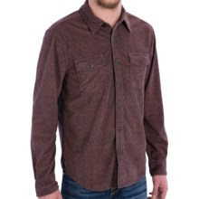 True Grit Sueded Tweed Check Shirt - Long Sleeve (For Men) in Red - Closeouts