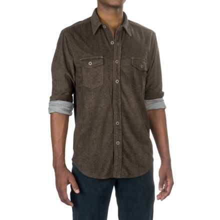 True Grit Sueded Tweed Shirt - Long Sleeve (For Men) in Light Brown - Closeouts