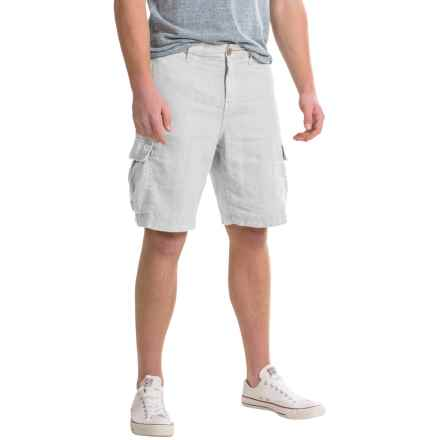 True Grit Sunset Cargo Shorts - Linen (For Men) in Faded White - Closeouts