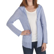 True Grit Supreme Microstripe Cardigan Sweater - Hooded (For Women) in Sky - Closeouts