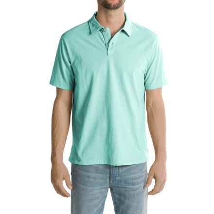 True Grit Surf Polo Shirt - Short Sleeve (For Men) in Vintage Aqua - Closeouts