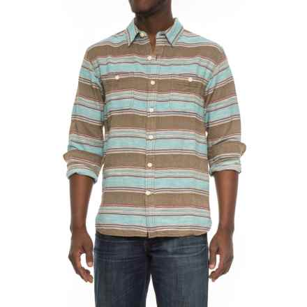 True Grit Taos Stripe Shirt - Long Sleeve (For Men) in Olive - Overstock