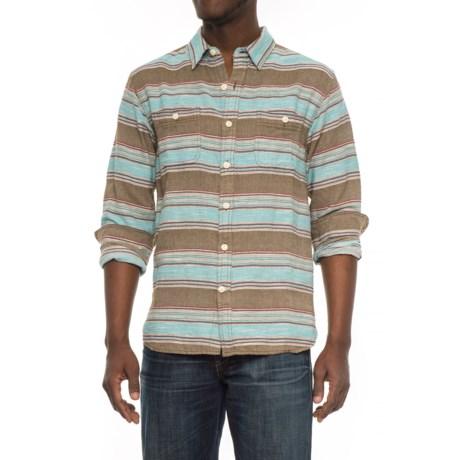 True Grit Taos Stripe Shirt - Long Sleeve (For Men) in Olive