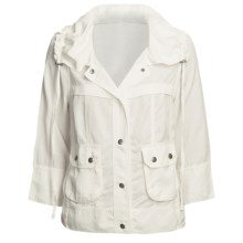 True Grit Textured Twill Cabin Jacket - TENCEL®, 3/4 Sleeve (For Women) in Vintage White - Closeouts
