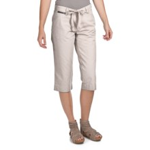 True Grit Tie Crop Chino Shorts (For Women) in Light Natural - Closeouts