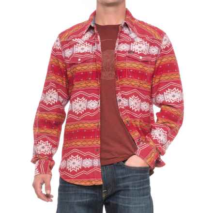 True Grit Tribal Shirt Jacket (For Men) in Vintage Red/Natural - Closeouts