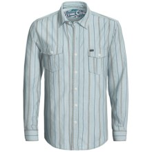 True Grit Tribal Stripe Shirt - Long Sleeve (For Men) in Chambray - Closeouts