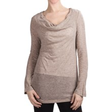 True Grit Twinkle T-Shirt - Cowl Neck, Long Sleeve (For Women) in Heather Malt - Closeouts
