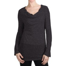 True Grit Twinkle T-Shirt - Cowl Neck, Long Sleeve (For Women) in Navy - Closeouts