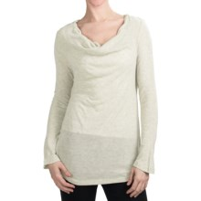 True Grit Twinkle T-Shirt - Cowl Neck, Long Sleeve (For Women) in White - Closeouts