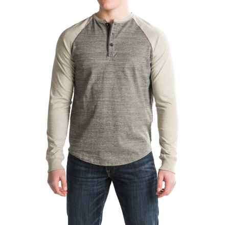True Grit Twisted Raglan Henley Shirt - Long Sleeve (For Men) in Smoke - Closeouts