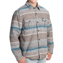 True Grit Two-Pocket Shirt Jacket - Fleece Lined (For Men) in Blue/Grey - Closeouts