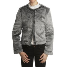True Grit Vintage Crop Jacket - Vintage Print Lining (For Women) in Black - Closeouts