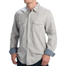 True Grit Vintage Double-Weave Western Shirt - Fully Lined, Snap Front, Long Sleeve (For Men) in Indigo - Closeouts