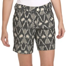 True Grit Vintage Ikat Shorts (For Women) in Vintage Black/Natural - Closeouts