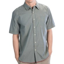 True Grit Vintage Indigo Shirt - Short Sleeve (For Men) in Indigo Stripe - Closeouts