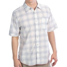 True Grit Vintage Indigo Shirt - Short Sleeve (For Men) in White Crossroads - Closeouts
