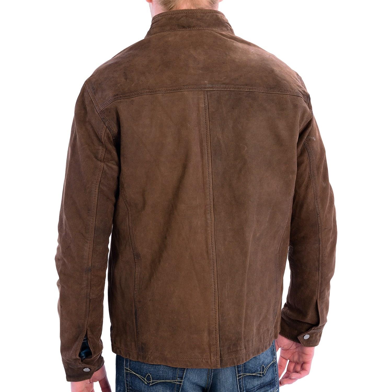 9294J_2 True Grit Vintage Leather Jacket (For Men