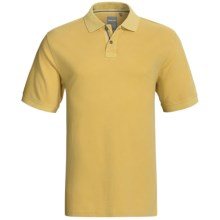 True Grit Vintage Pique Polo Shirt - Short Sleeve (For Men) in College Yellow - Closeouts