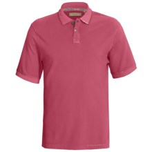 True Grit Vintage Pique Polo Shirt - Short Sleeve (For Men) in Vintage Red - Closeouts