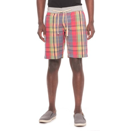 True Grit Vintage Plaid Drawstring Shorts (For Men) in Multi