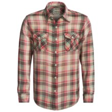 True Grit Vintage Plaid Shirt - Long Sleeve (For Men) in Indian Green/Red - Closeouts