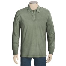 True Grit Vintage Polo Shirt - Long Sleeve (For Men) in Alpine Green - Closeouts