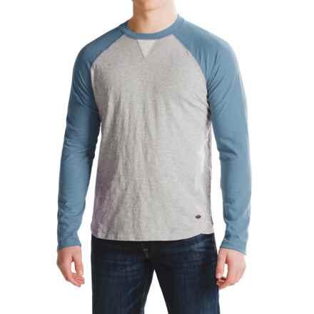 True Grit Vintage Raglan Shirt - Long Sleeve (For Men) in Indigo/Heather Grey - Closeouts