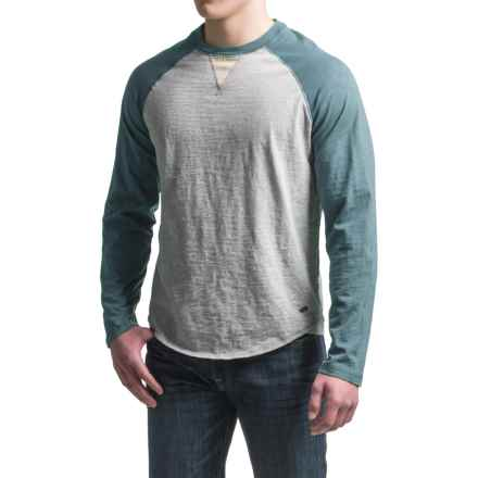 True Grit Vintage Raglan Shirt - Long Sleeve  (For Men) in Vintage Indigo/Heather Grey - Closeouts