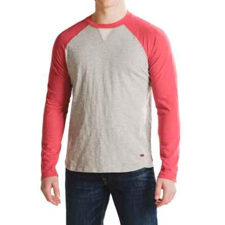 True Grit Vintage Raglan Shirt - Long Sleeve (For Men) in Vtg Red/Heather Grey - Closeouts