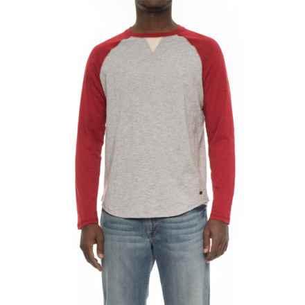 True Grit Vintage Raglan T-Shirt - Long Sleeve (For Men) in Spice/Heather Grey - Overstock