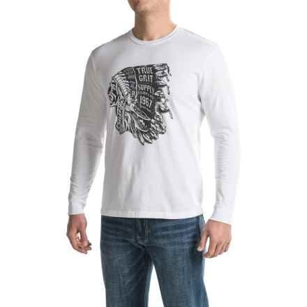 True Grit Vintage Screenprint T-Shirt - Long Sleeve (For Men) in Optic White - Closeouts