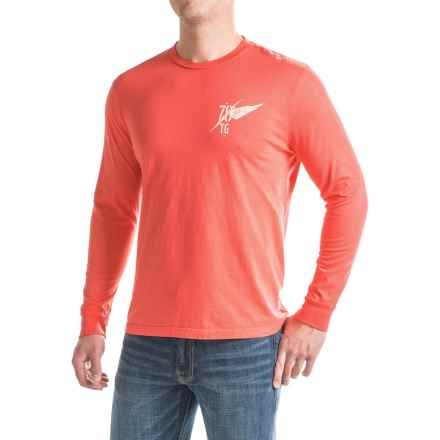 True Grit Vintage Screenprint T-Shirt - Long Sleeve (For Men) in Retro Red - Closeouts