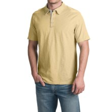 True Grit Vintage Slub Jersey Polo Shirt - Short Sleeve (For Men) in Butter - Closeouts