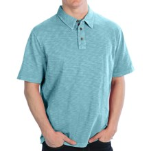 True Grit Vintage Slub Jersey Polo Shirt - Short Sleeve (For Men) in Crystal Blue - Closeouts