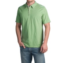 True Grit Vintage Slub Jersey Polo Shirt - Short Sleeve (For Men) in Limelight - Closeouts