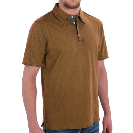 True Grit Vintage Slub Jersey Polo Shirt Short Sleeve (For Men)