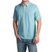 True Grit Vintage Slub Jersey Polo Shirt - Short Sleeve (For Men) in Soft Blue - Closeouts