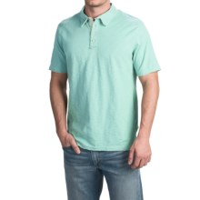 True Grit Vintage Slub Jersey Polo Shirt - Short Sleeve (For Men) in Vintage Aqua - Closeouts