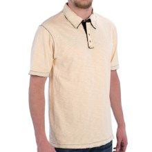 True Grit Vintage Slub Jersey Polo Shirt - Short Sleeve (For Men) in Vintage Ecru - Closeouts
