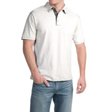 True Grit Vintage Slub Jersey Polo Shirt - Short Sleeve (For Men) in White - Closeouts