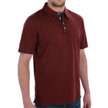 True Grit Vintage Slub Jersey Polo Shirt - Short Sleeve (For Men) in Wine Country - Closeouts