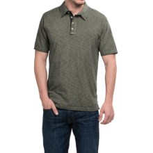True Grit Vintage Slub-Knit Polo Shirt - Short Sleeve (For Men) in Jeep - Closeouts