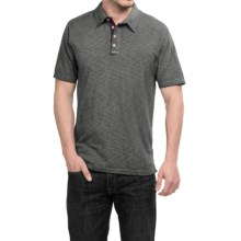 True Grit Vintage Slub-Knit Polo Shirt - Short Sleeve (For Men) in Vintage Black - Closeouts