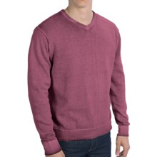 True Grit Vintage Sweater - V-Neck (For Men) in Wine Country - Closeouts
