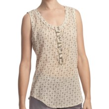 True Grit Vintage Tank Top - Jewel Placket (For Women) in Brown/Orange Dandelion - Closeouts